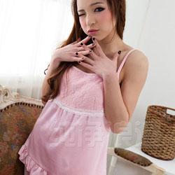【送料無料】プリンセスピンクのキャミソールとパンツ パジャマ ルームウエア
