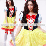 白雪姫 コスチューム コスプレ 衣装 ワンピース 大人用 キャラクター 仮装
