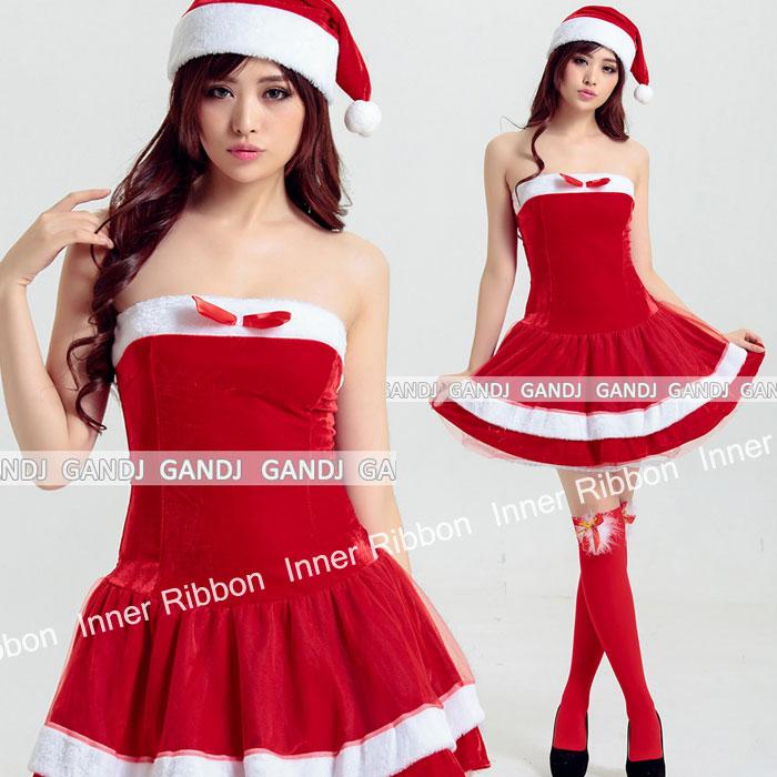 サンタ クリスマス サンタコス 肩出しワンピ 帽子セット 女性 コスチューム コスプレ 衣装 ワンピース 大人用 仮装